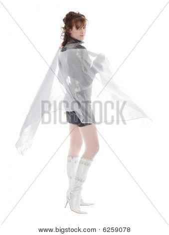 Studio Shot Of Posing Woman