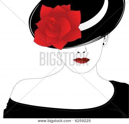 Woman_rose