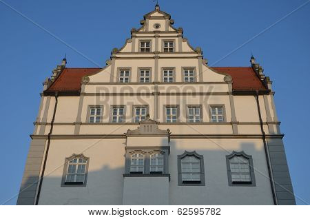 Hall gable in Lutherstadt Wittenberg