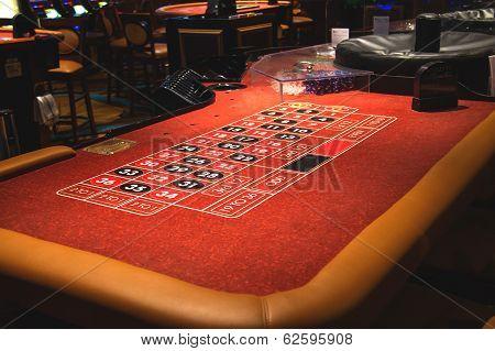 Table Roulette In A Casino Treasure Island. Las Vegas