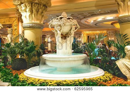 Fountain In Caesar's Palace In Las Vegas