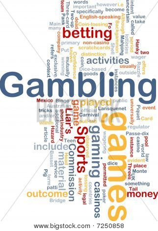 Gambling Betting Background Concept