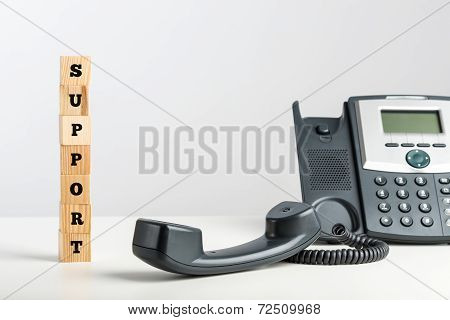 Telephone Support Concept