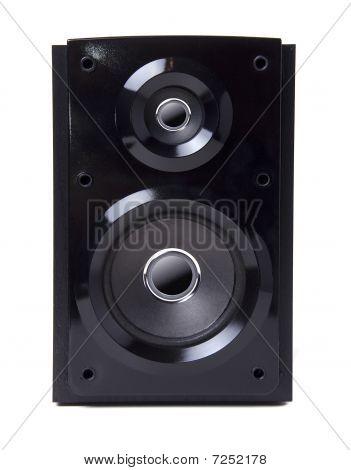 Black Wooden Loudspeaker Isolated
