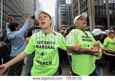 Security marshals at work