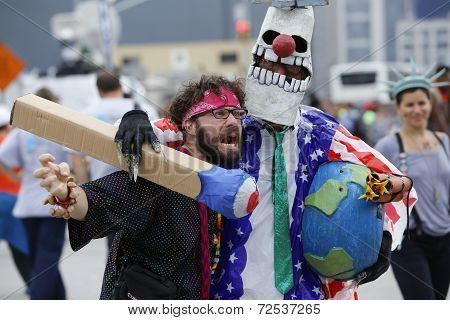 Horsing around in costume