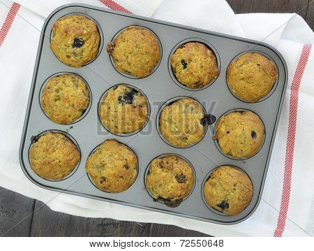 Banana Blueberry Mini Muffins