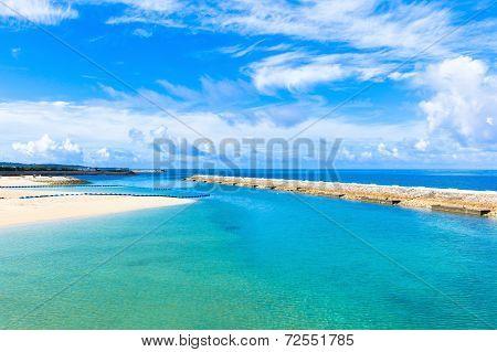 Tropical beach and blue sky, Okinawa