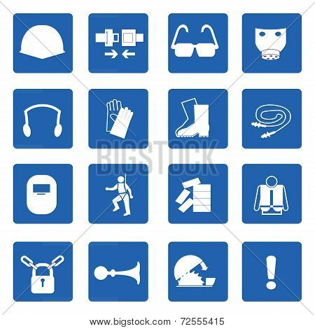 Mandatory Signs, Construction Health And Safety,vector Illustration