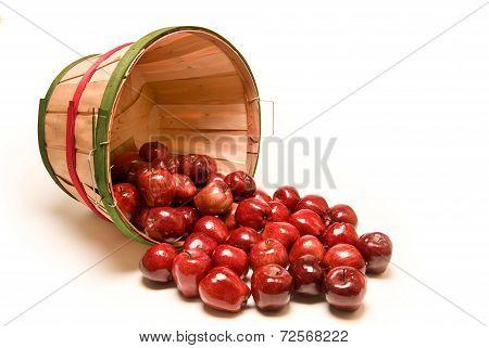 Bushel Basket Of Apples Spilling Out