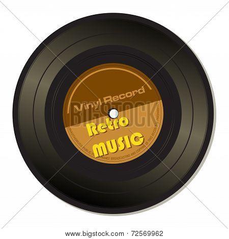 Retro music vinyl record