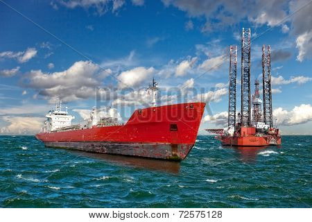 The Offshore Drilling Oil Rig