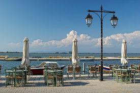 Greek Taverna On The Sea Pier