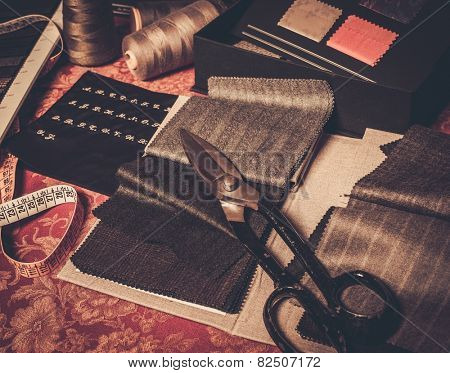 Cloth samples for custom made suits and jackets