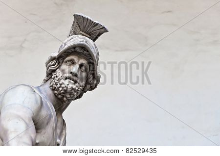 Statue Of Greek Hero Menelaus Holding Patroclus In Florence