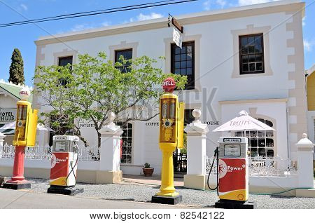 Historical Fuel Pumps In The Victorian Village Of Matjiesfontein