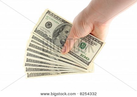 Mano con dinero