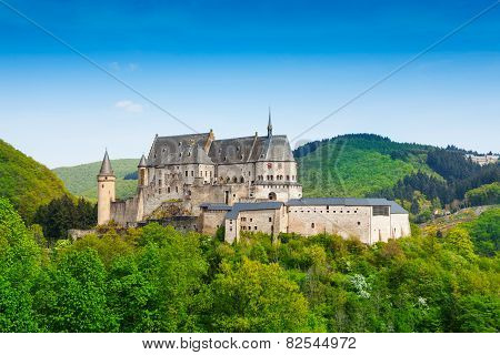Vianden Luxembourg mountains and forests