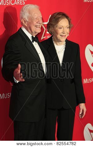 LOS ANGELES - FEB 6:  Former U.S. President Jimmy Carter, Rosalynn Carter at the MusiCares 2015 Person Of The Year Gala at a Los Angeles Convention Center on February 6, 2015 in Los Angeles, CA