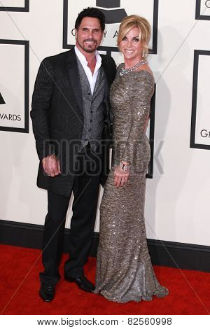 LOS ANGELES - FEB 8:  Don DIamont, Cindy Ambuehl at the 57th Annual GRAMMY Awards Arrivals at a Staples Center on February 8, 2015 in Los Angeles, CA