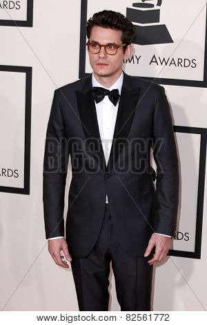 LOS ANGELES - FEB 8:  John Mayer at the 57th Annual GRAMMY Awards Arrivals at a Staples Center on February 8, 2015 in Los Angeles, CA