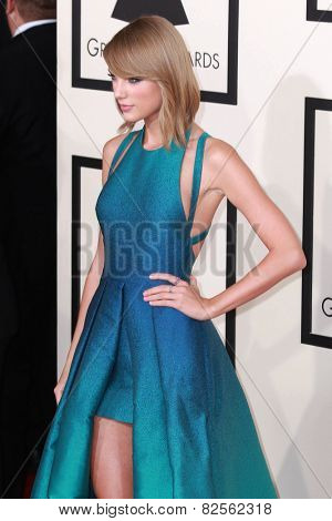 LOS ANGELES - FEB 8:  Taylor Swift at the 57th Annual GRAMMY Awards Arrivals at a Staples Center on February 8, 2015 in Los Angeles, CA