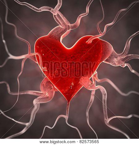 Sick heart background