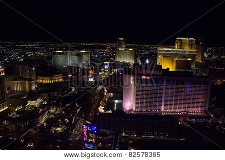 View From The Top Of Las Vegas And Its Strip