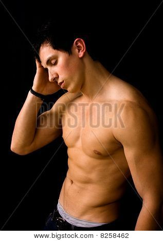 Young Man With Atletic Body