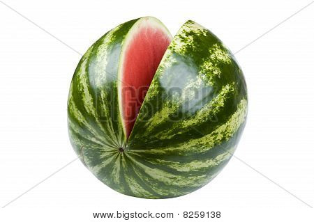Watermelon On White