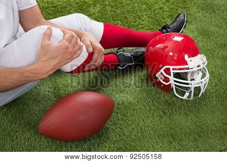 Injured American Football Player