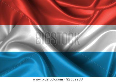 Wavy Flag Of Luxemburg