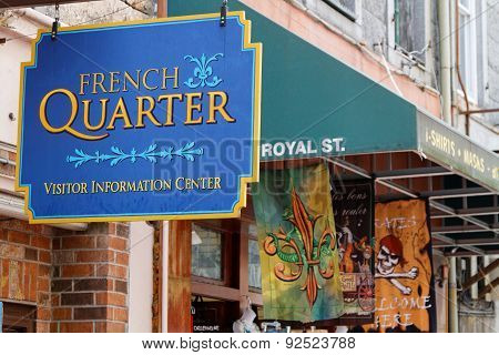 New Orleans French Quarter, Also Known As The Vieux Carré