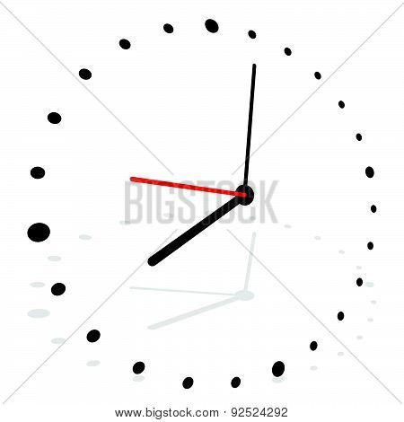 Clock, Clock Vector Isolated On White. Eps 10.