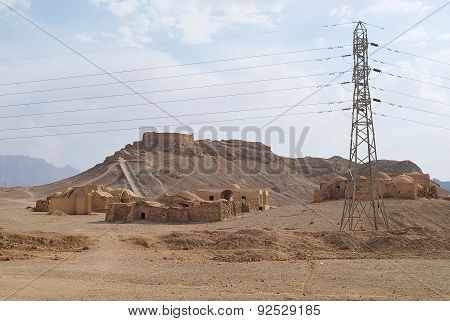 View to the Zoroastrian Tower of Silence in Yazd, Iran.