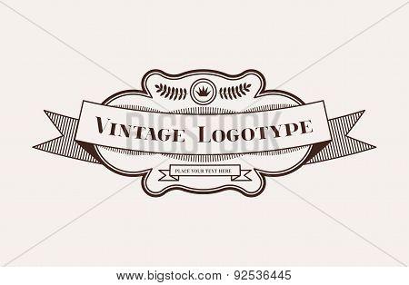 Vintage Hipster Design Element for Vector Logo