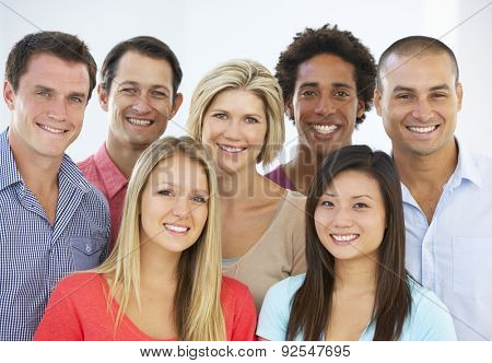 Group Of Happy And Positive Business People In Casual Dress