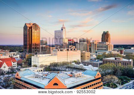 Raleigh, North Carolina, USA downtown city skyline.
