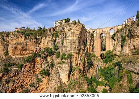Ronda, Spain at the Puente Nuevo Bridge.