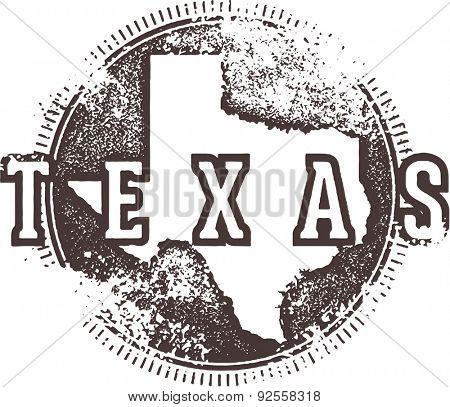 Vintage Texas USA State Stamp