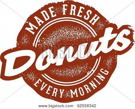 Fresh Donuts Vintage Sign
