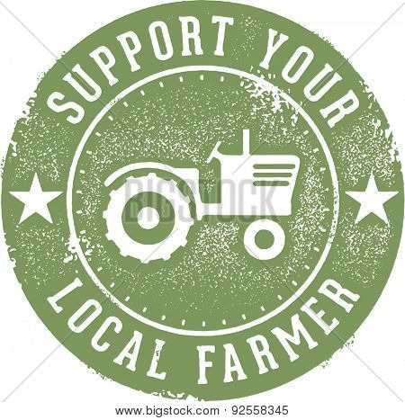 Support Your Local Farmer Stamp