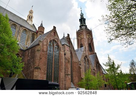 Grote Of Sint-jacobskerk In The Hague, Netherlands.