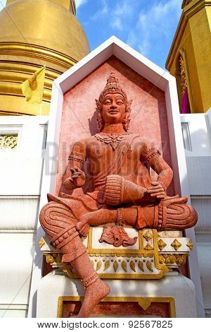 siddharta in the temple bangkok asia thailand abstract cross step wat palaces poster