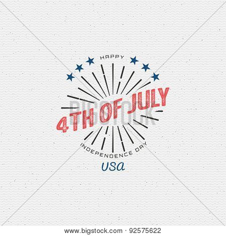 Fourth of July Independence Day USA badges logos and labels for any use. On a white background poster
