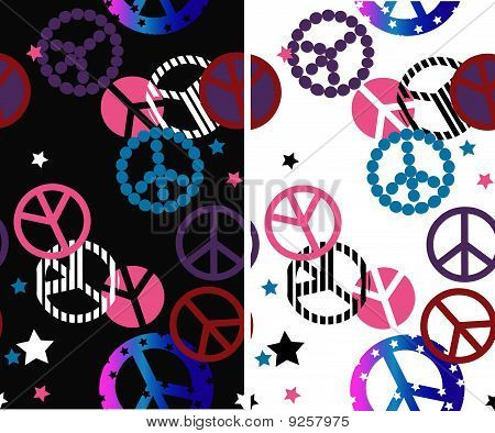 peace symbol seamless background
