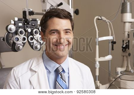 Portrait Of Optician In Surgery