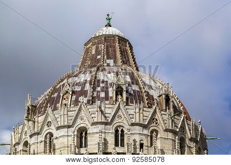 Dome Of Pisa Baptistry, Italy