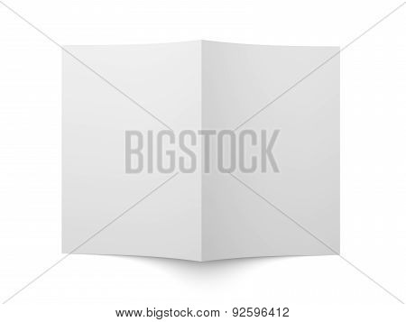 Blank Folded Flyer, Booklet, Business Card Or Brochure