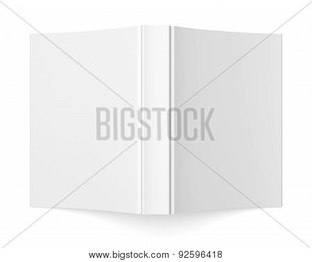 Blank Soft Cover Book Template On White